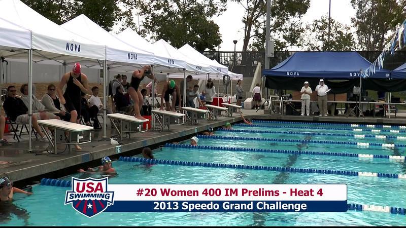 #20 Women 400 IM Heat 4