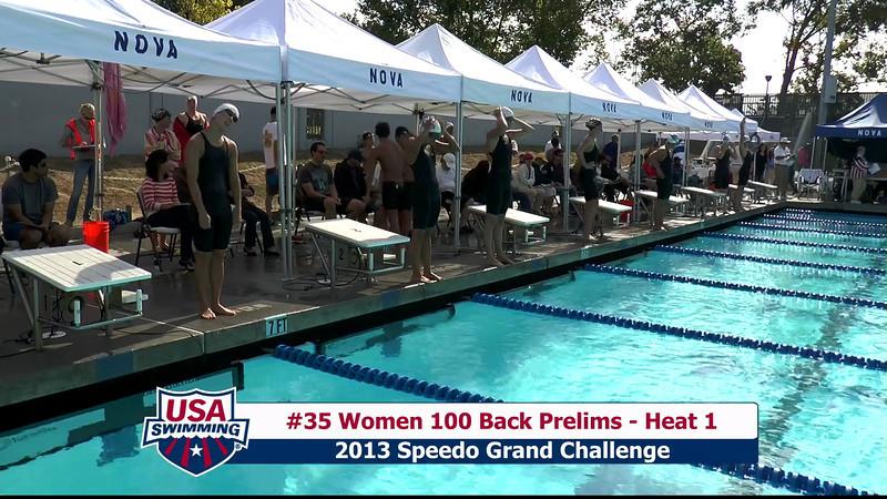 #35 Women 100 Back Heat 1