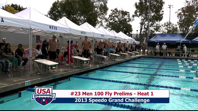 #23 Men 100 Fly Heat 1