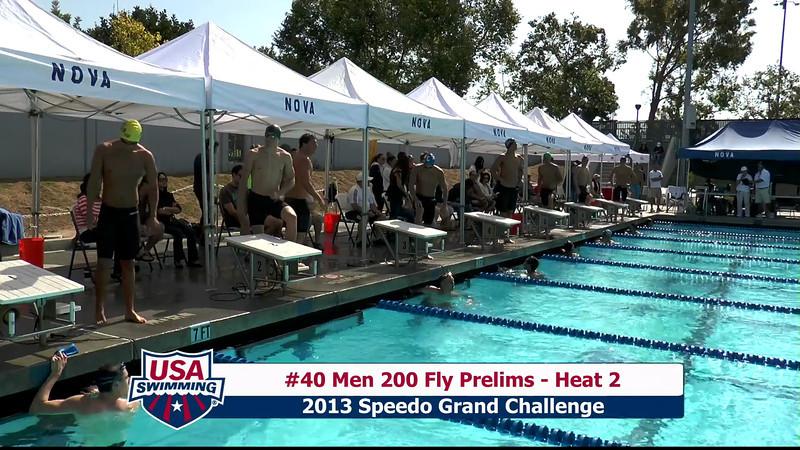 #40 Men 200 Fly Heat 2