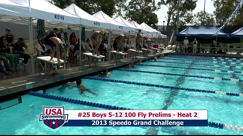 #25 Boys 5-12 100 Fly Heat 2