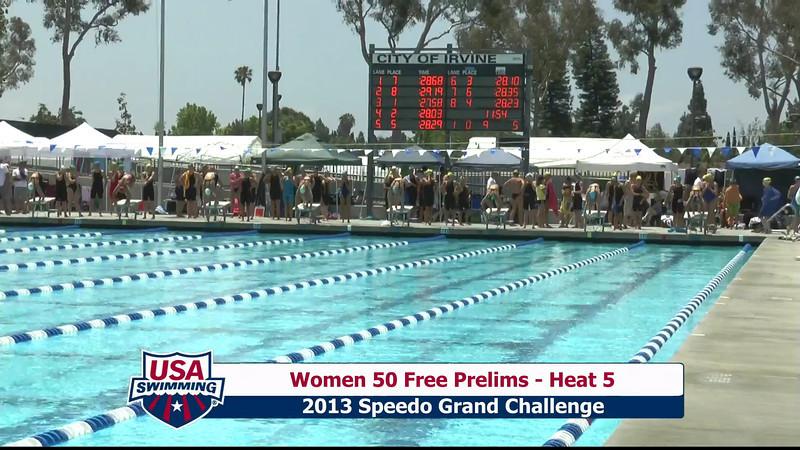 #9 Women 50 Free Heat 8