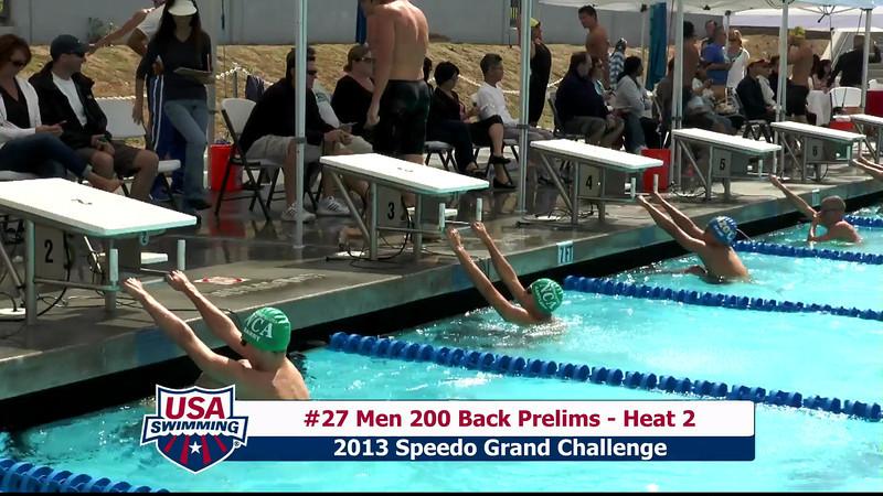 #27 Men 200 Back Heat 2