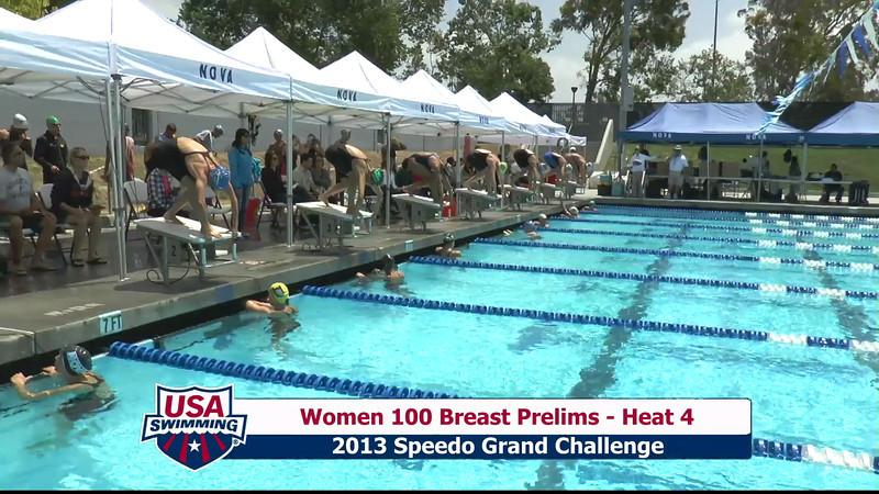#5 Women 100 Breast Heat 7