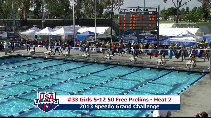 #33 Girls 5-12 50 Free Heat 2