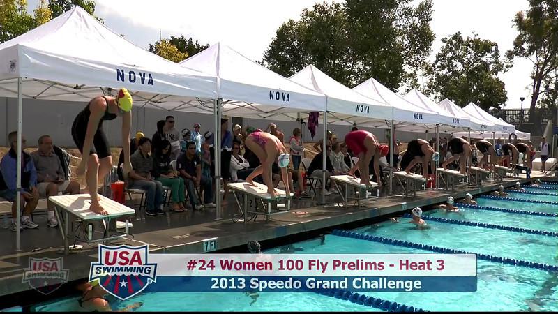 #24 Women 100 Fly Heat 3