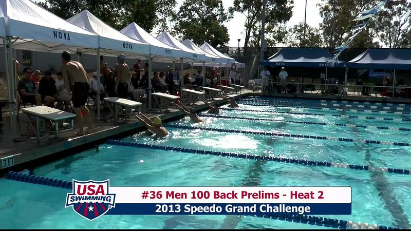 #36 Men 100 Back Heat 2