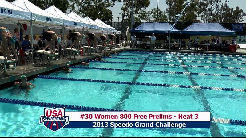 #30 Women 800 Free Heat 3