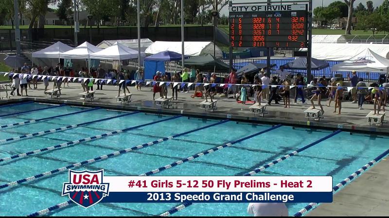 #41 Girls 5-12 50 Fly Heat 2