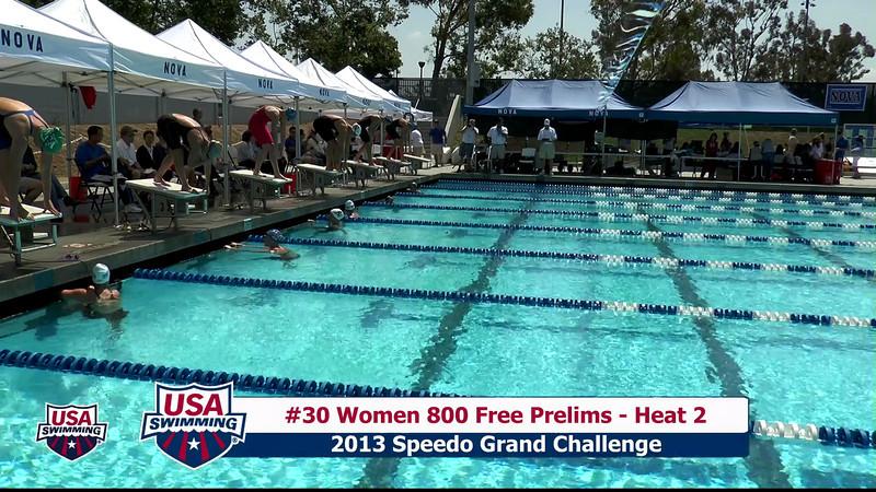 #30 Women 800 Free Heat 2