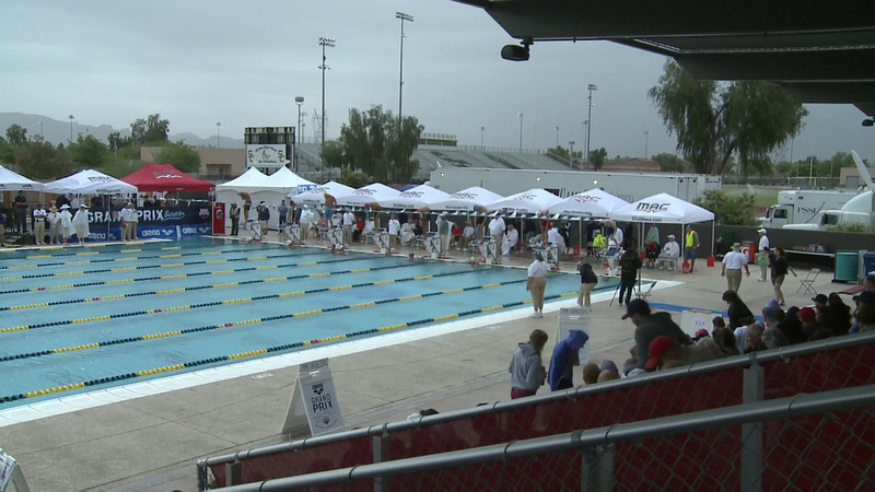 Men's 100 Breaststroke Heat 6 - Arena Grand Prix -  Mesa, Arizona