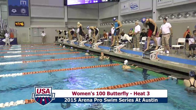 Womens 100 Breaststroke Heat 3
