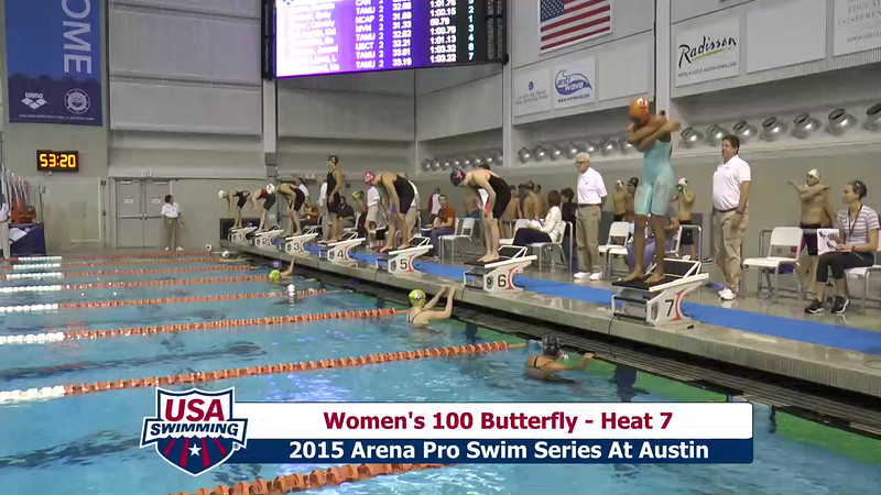 Womens 100 Breaststroke Heat 7