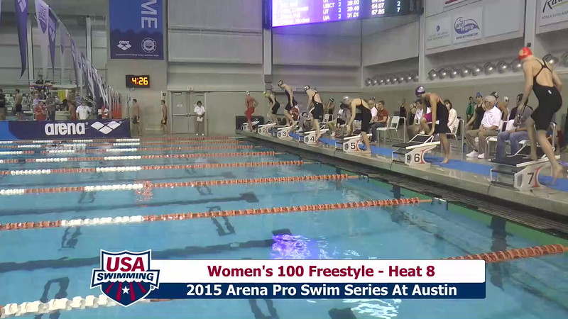 Womens 100 Freestyle Heat 8