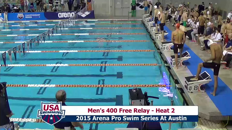 Mens 400 Freestyle Relay Heat 2