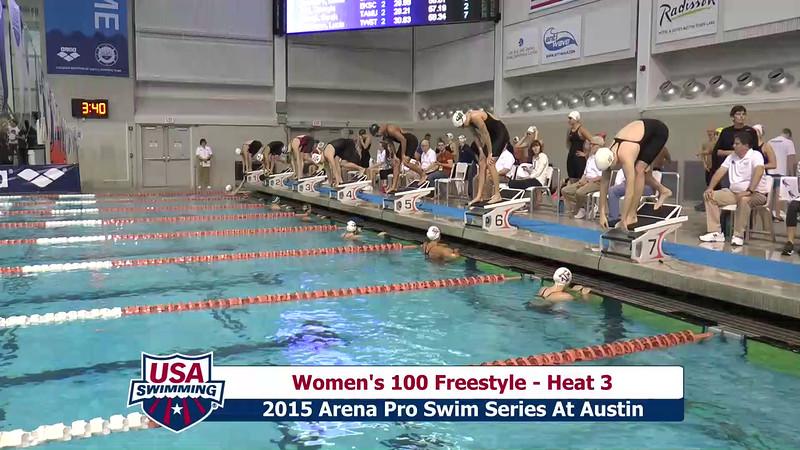 Womens 100 Freestyle Heat 4