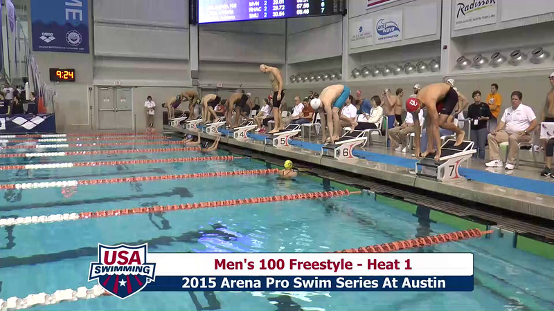Mens 100 Freestyle Heat 1