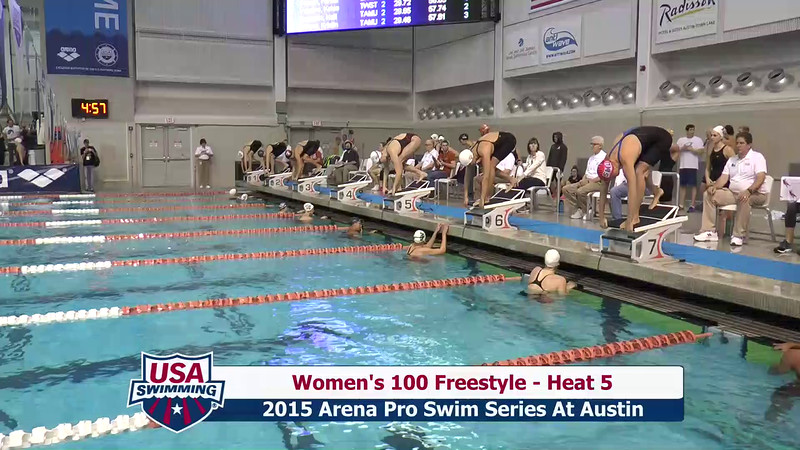 Womens 100 Freestyle Heat 5