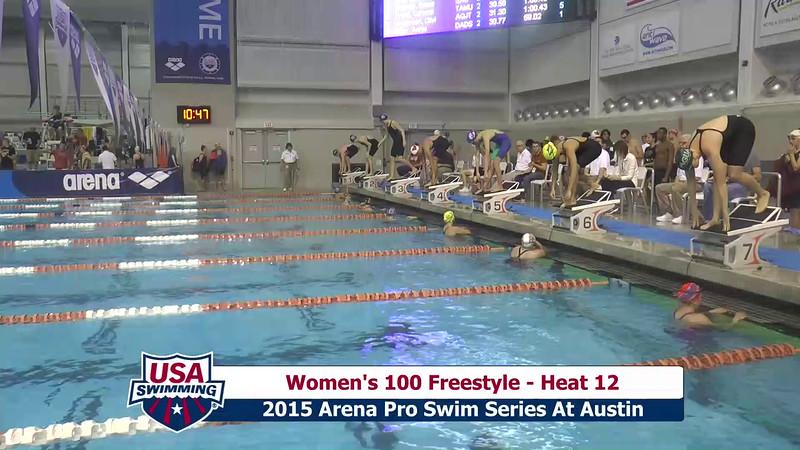 Womens 100 Freestyle Heat 13