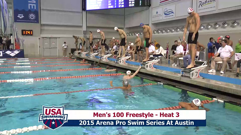 Mens 100 Freestyle Heat 3