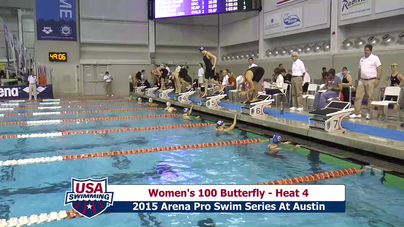 Womens 100 Breaststroke Heat 4