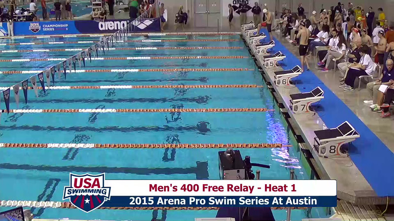 Mens 400 Freestyle Relay Heat 1