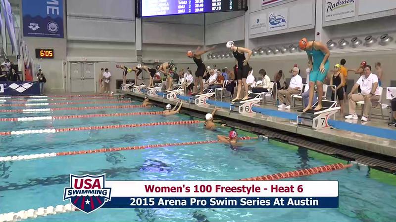 Womens 100 Freestyle Heat 6