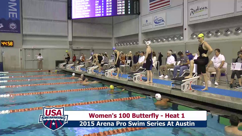 Womens 100 Breaststroke Heat 1