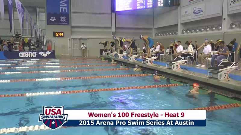 Womens 100 Freestyle Heat 9