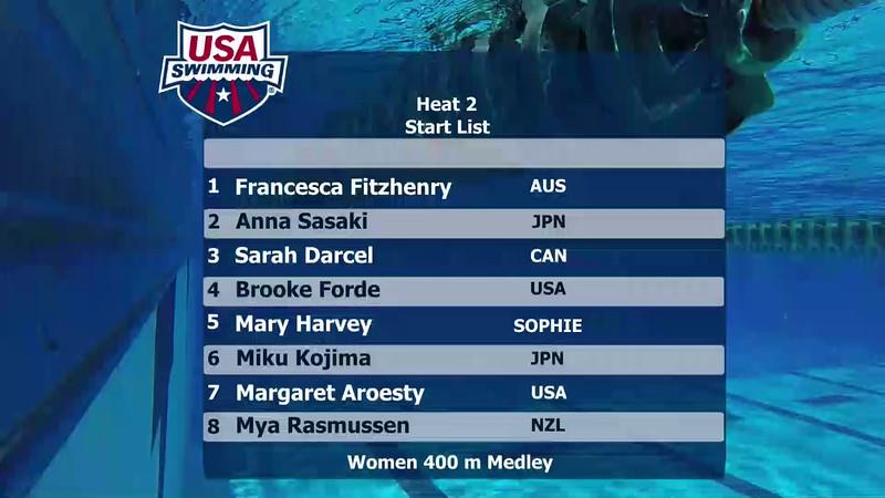 A Final   Event 13 Womens 400 Medley   2016 Jr Pan Pacific Championships