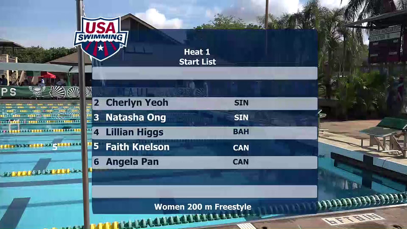 Heat 1 | Event 1 Womens 200 Freestyle | 2016 Jr Pan Pacific Championships