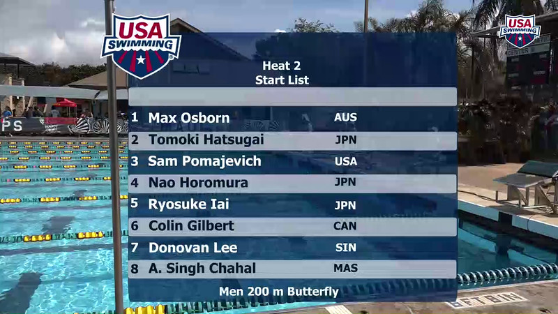 Heat 2 | Event 6 Mens 200 Breaststroke | 2016 Jr Pan Pacific Championships