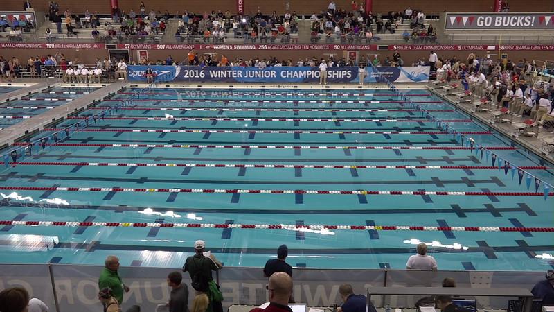 Heat 1   #1 Women 4x50 Medley Relay   2016 SPEEDO WINTER JR. CHAMPIONSHIPS EAST   VIDEO
