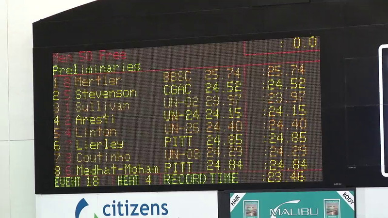 Men's 50 Freestyle Heat 04 - 2012 Indianapolis Grand Prix