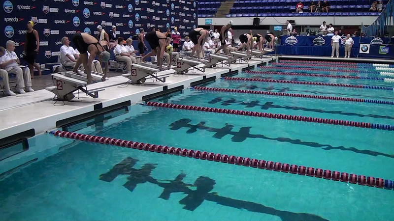 E15 Women's 400m Freestyle Heat 09 - 2012 Speedo National Championships