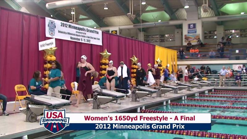 Women's 1650yd Freestyle Heat Final A - 2012 Minneapolis Grand Prix