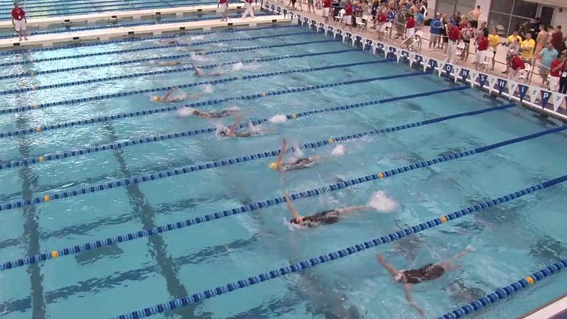 Women's 200 Backstroke Heat 12 - 2012 Short Course YMCA National Championships
