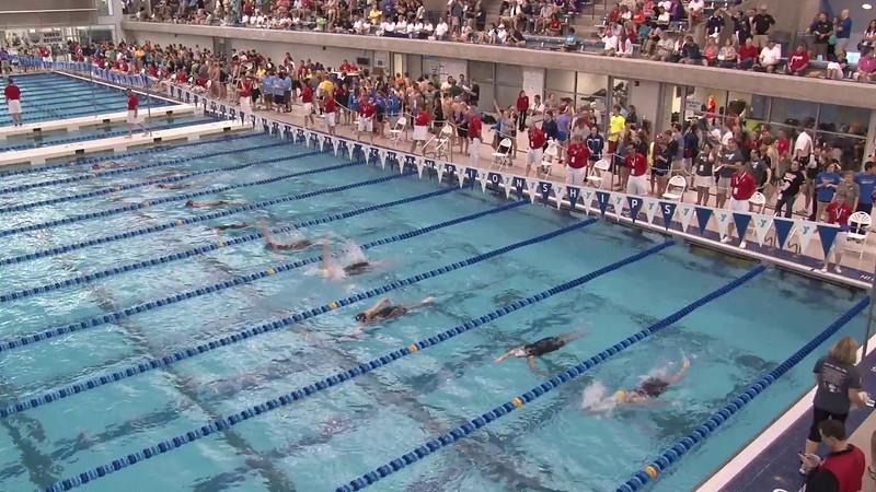 Women's 200 Backstroke Heat 02 - 2012 Short Course YMCA National Championships