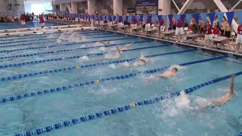 Men's 100 Backstroke Heat 11 - 2012 Short Course YMCA National Championships