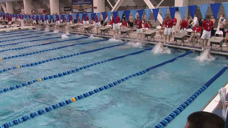Men's 100 Backstroke Heat 15 - 2012 Short Course YMCA National Championships
