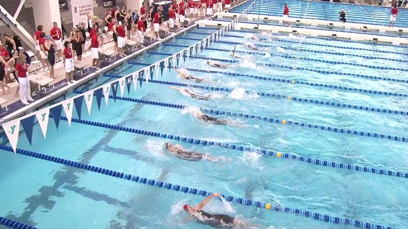 Women's 100 Backstroke Heat 14 - 2012 Short Course YMCA National Championships