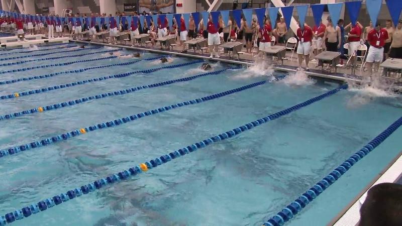Men's 100 Backstroke Heat 08 - 2012 Short Course YMCA National Championships