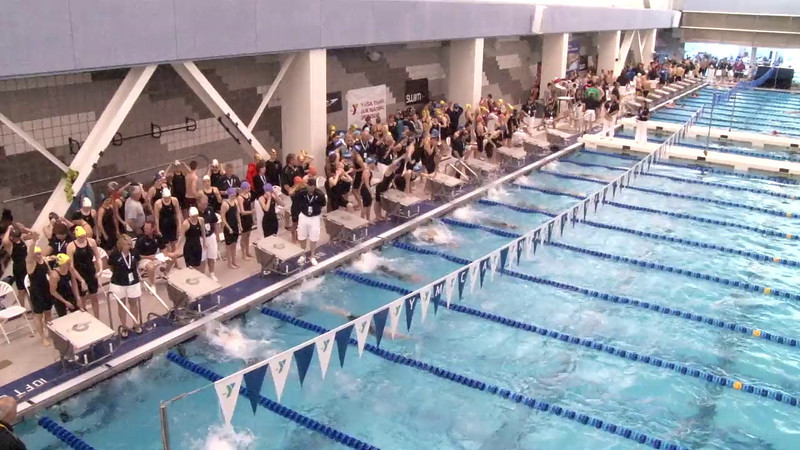 Women's 400 Freestyle Relay Heat 01 - 2012 Short Course YMCA National Championships