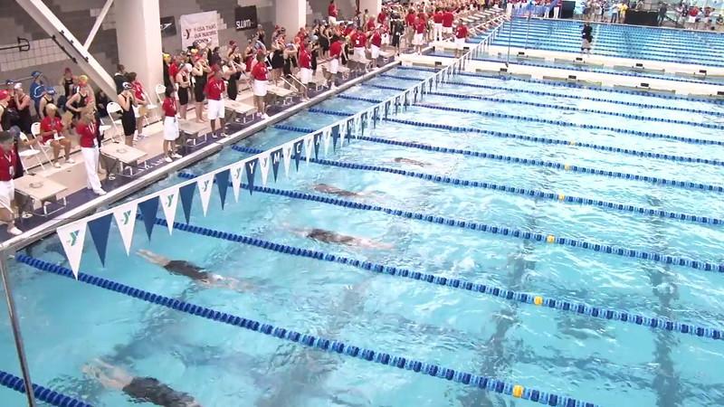 Women's 100 Backstroke Heat 08 - 2012 Short Course YMCA National Championships