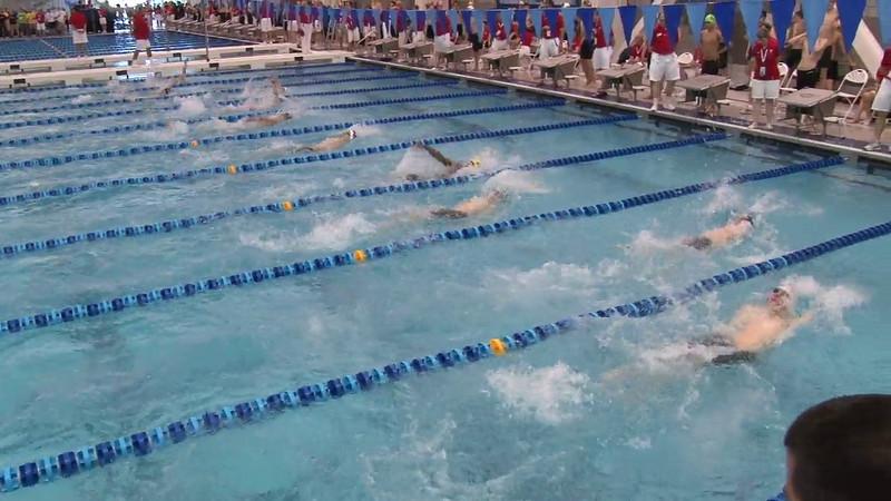 Men's 100 Backstroke Heat 12 - 2012 Short Course YMCA National Championships