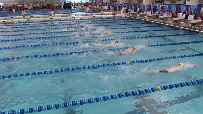Men's 100 Backstroke Heat 01 - 2012 Short Course YMCA National Championships