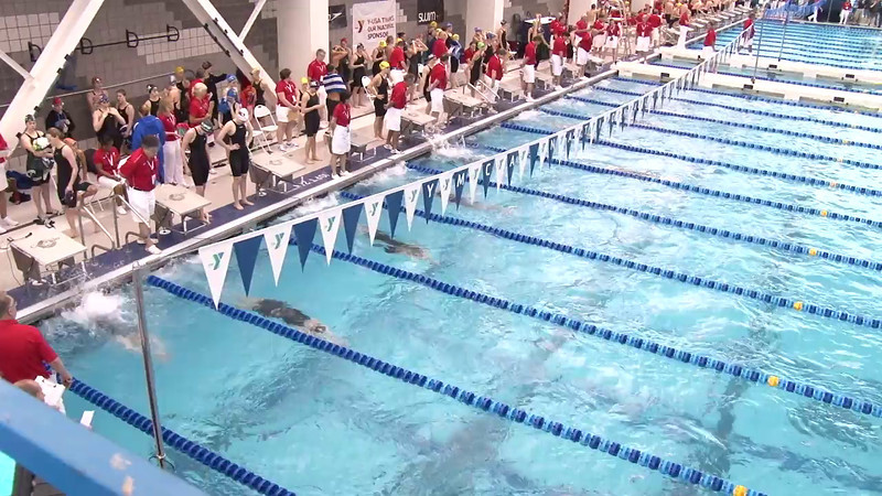 Women's 100 Backstroke Heat 13 - 2012 Short Course YMCA National Championships