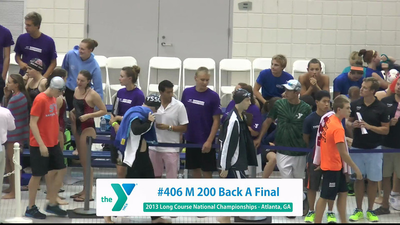 Men 200 Backstroke A Final