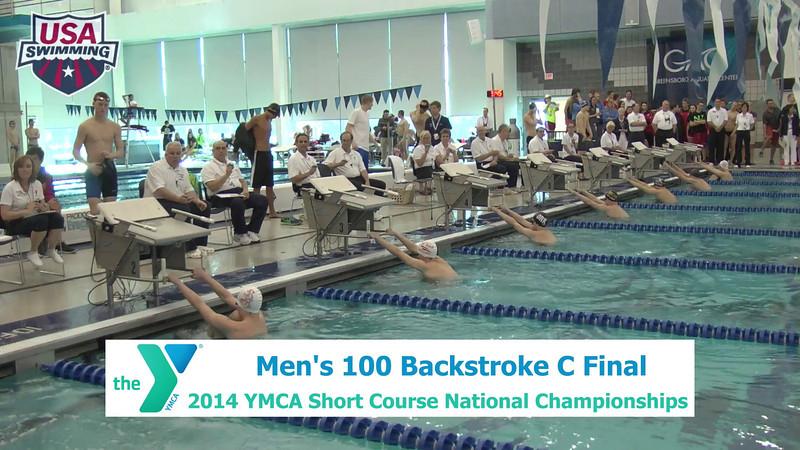 M 100 Backstroke C Final