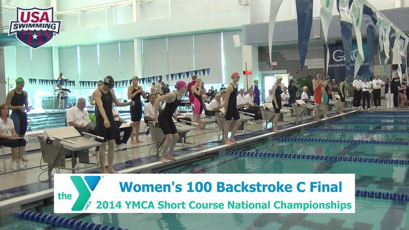 W 100 Backstroke C Final
